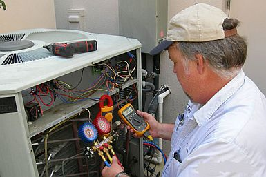 Larry is fixing an AC unit